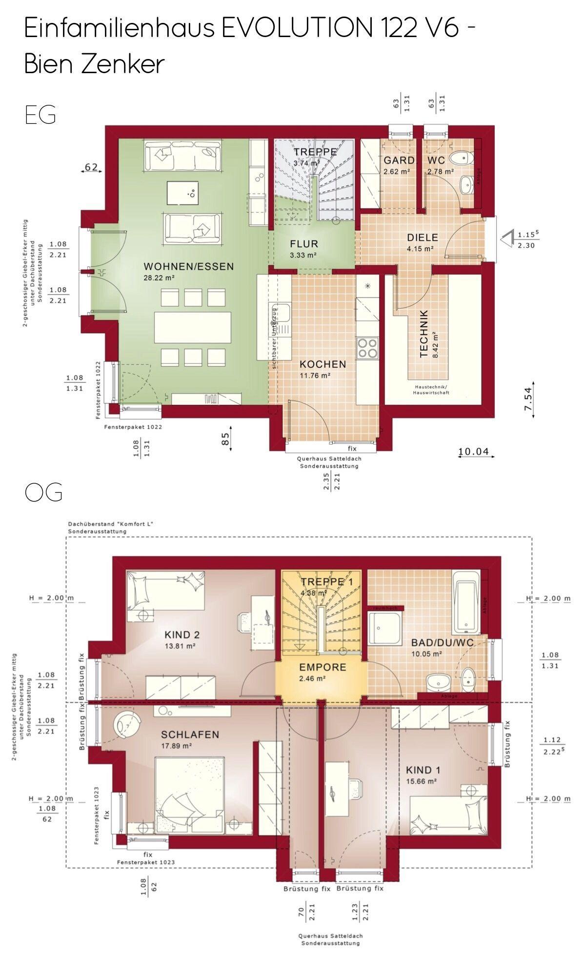 Grundriss Einfamilienhaus Modern Mit Satteldach Giebel Erker 4