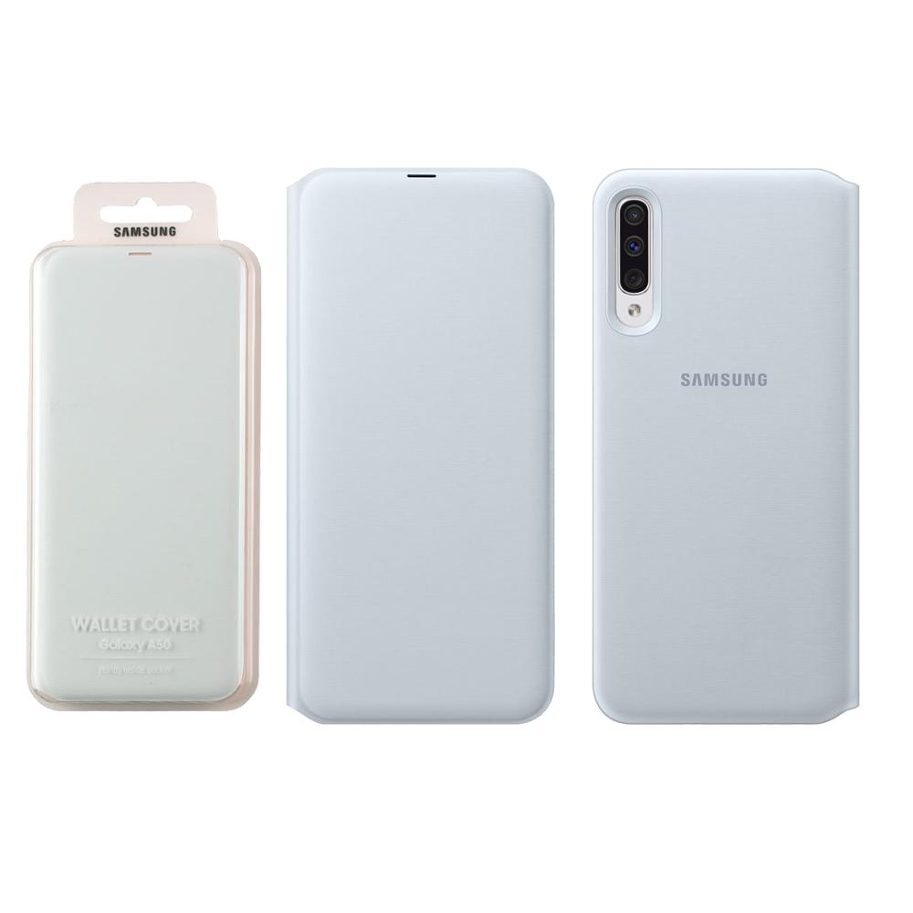 Samsung ΓΝΗΣΙΑ ΘΗΚΗ SAMSUNG A50 2019 FLIP WALLET COVER EF-WA505PWEGWW