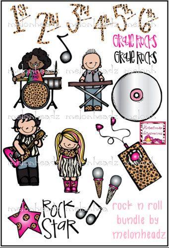Rock N Roll Clip Art Melonheadz Dibujos Reglas De