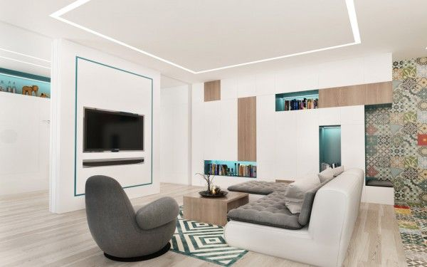 4 small studio apartments decorated in 4 different styles all under 50 square meters with