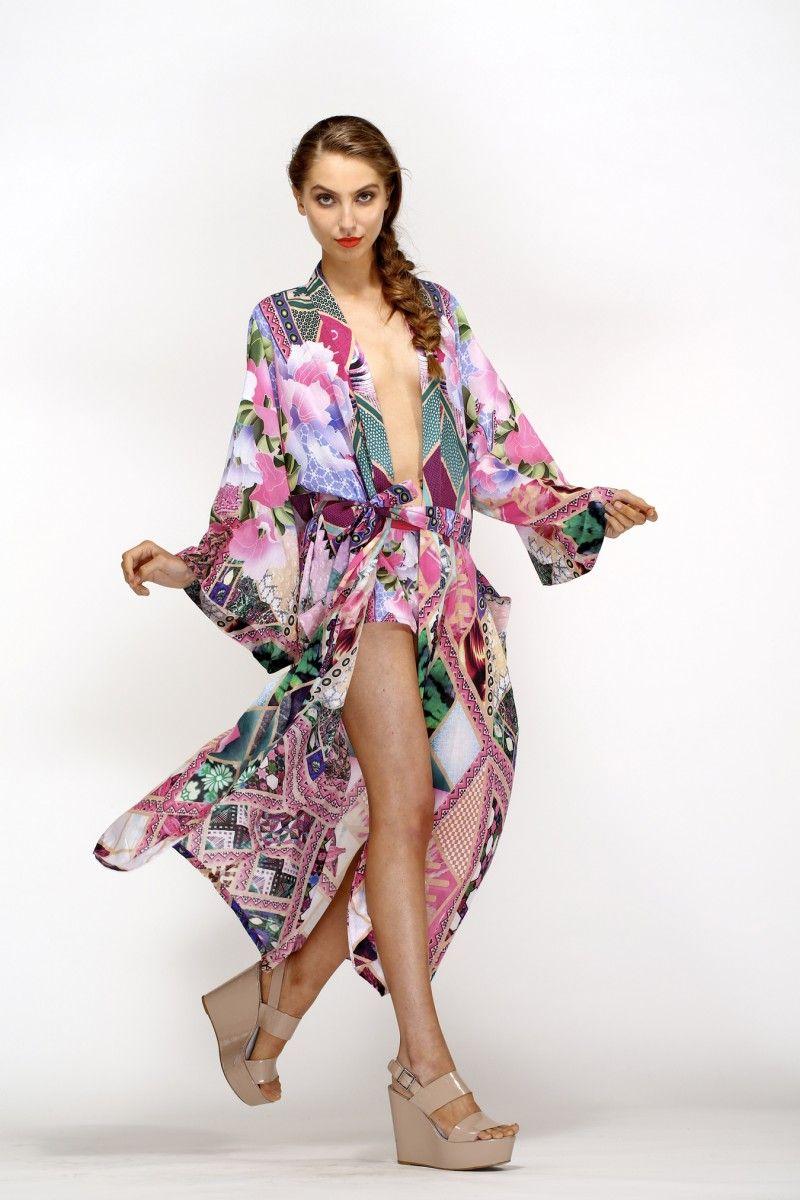 Gorgeous robe- VIOLET EYES COTTON TIE ROBE