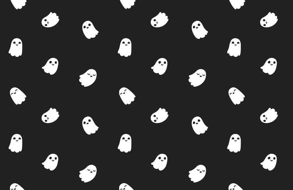 Little Ghost Wallpaper Mural Murals Wallpaper In 2020 Halloween Desktop Wallpaper Cute Desktop Wallpaper Halloween Wallpaper Cute