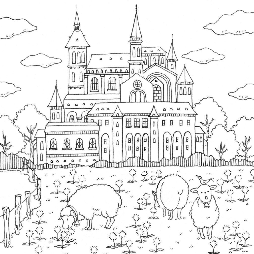 Romantic Country A Fantasy Coloring Book