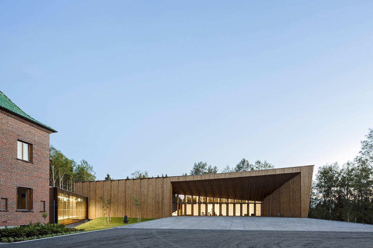 Serlachius Museum Gösta Extension, Mänttä, Finland  by MX_SI architectural studio #architecture #museum #wood #Finland