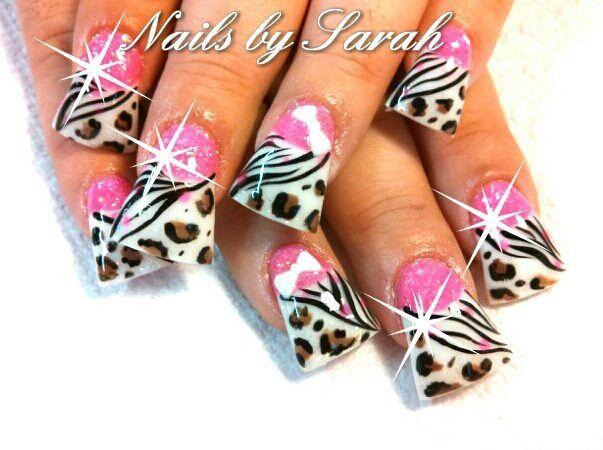 Animal Print Acrylic Nails Nails Pinterest Acrylics Animal
