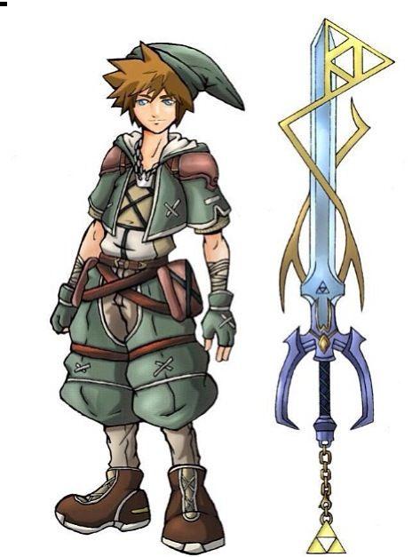 Badass Sora Link style   Games   Kingdom hearts crossover ...