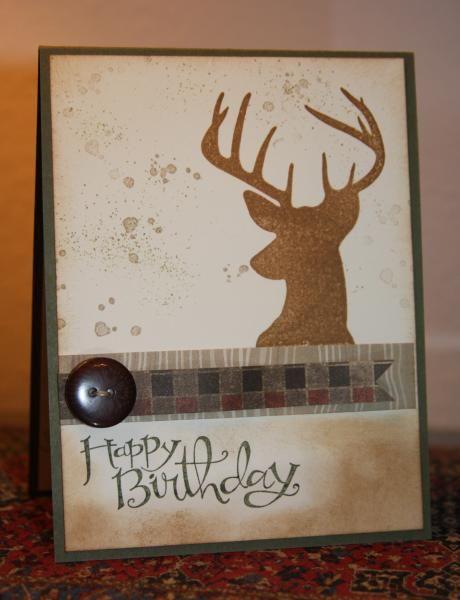 A Birthday Deer Masculine Birthday Cards Handmade Birthday Cards Cards Handmade