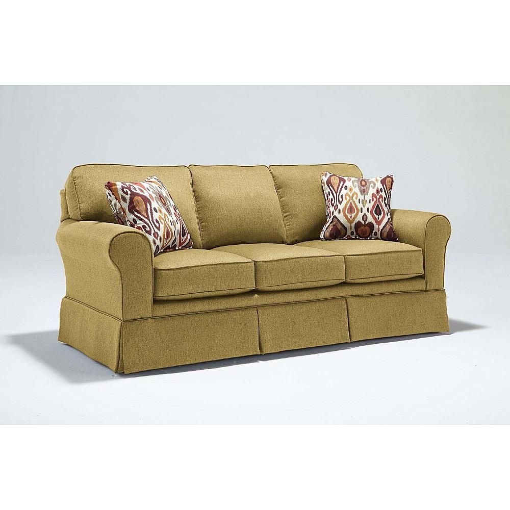 Best home furnishings beige midtown traditional rolled arm couch