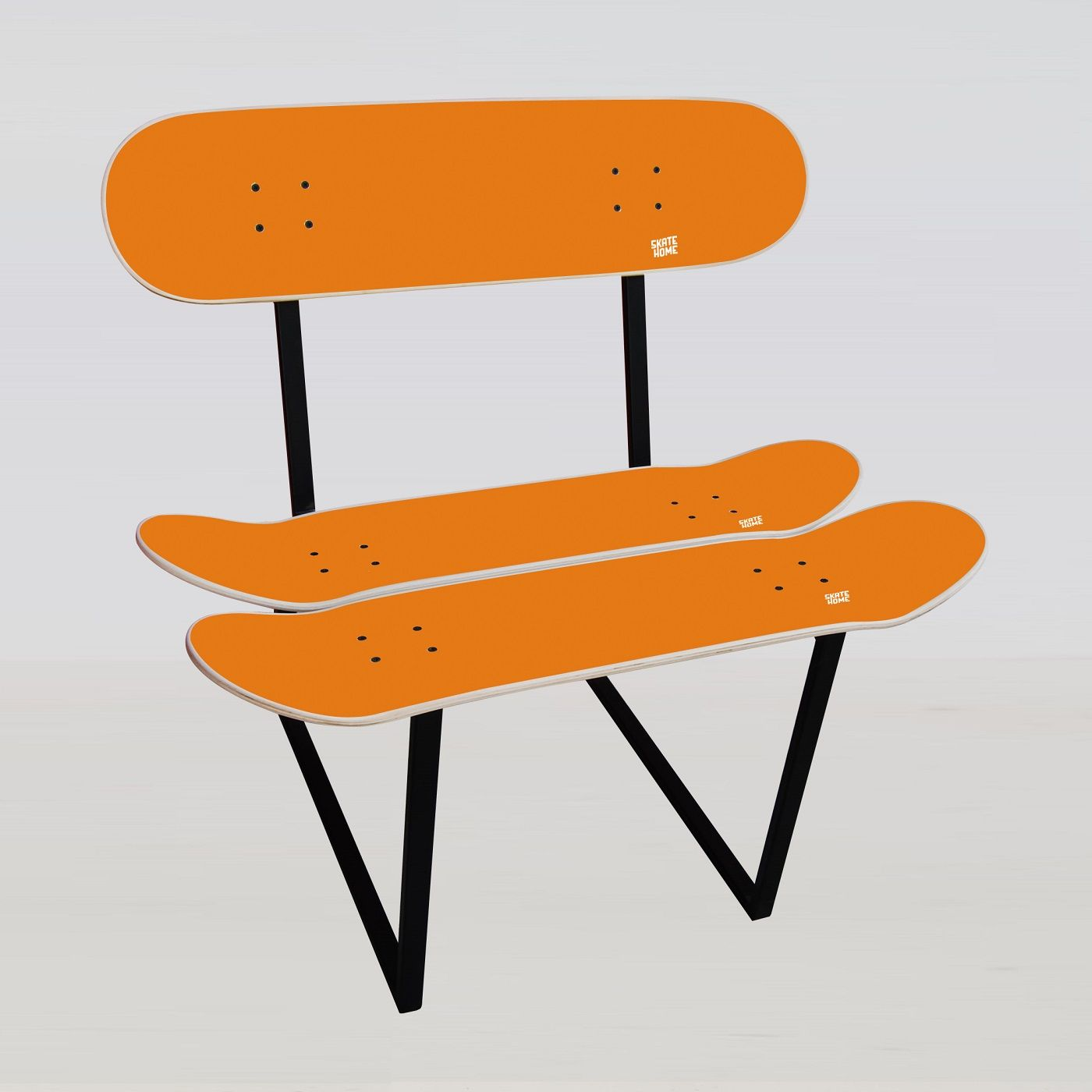 Childrenu0027s Skateboard Furniture Kids Chair With 3 Skate Decks   Original  Present For Skaters