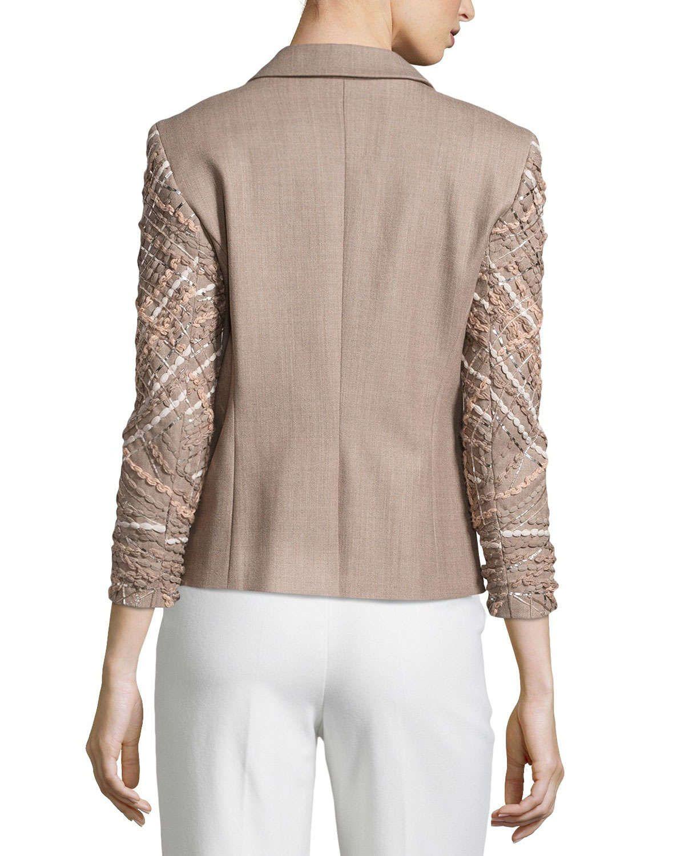 Wool Jacket with Embellished Sleeves