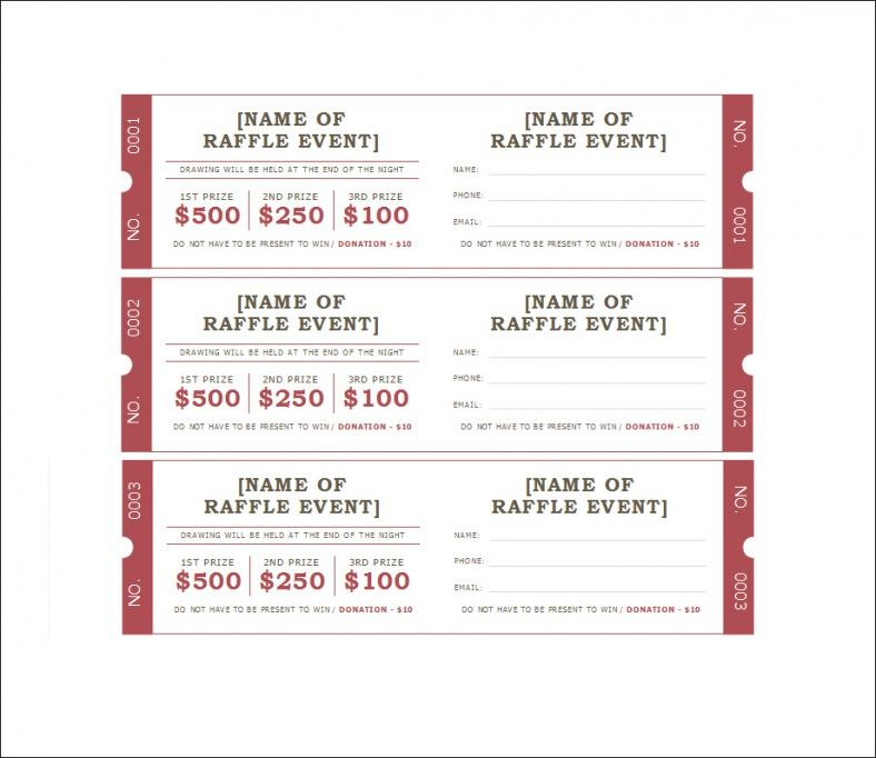 Blank Raffle Ticket Templates,event Ticket Template  Free Printable Event Tickets
