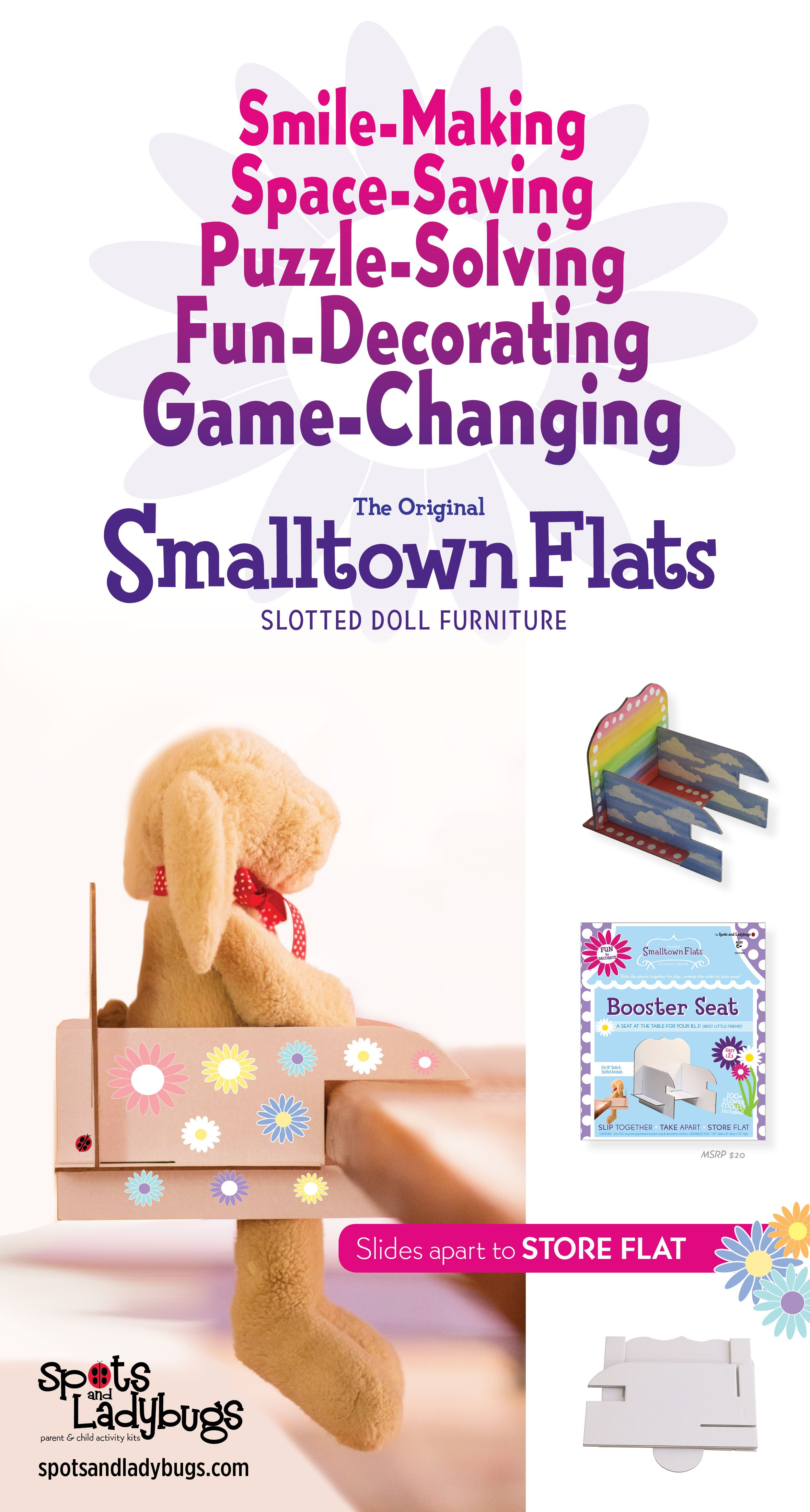 12740bb6 Game-changing Doll Furniture. Slide pieces together for play, slide apart  to stow away! A puzzle, a craft, and doll furniture all rolled into one!