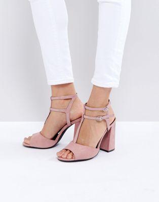 ed05d77ef630f New Look - Sandales style salomés en suédine avec talon carré ...