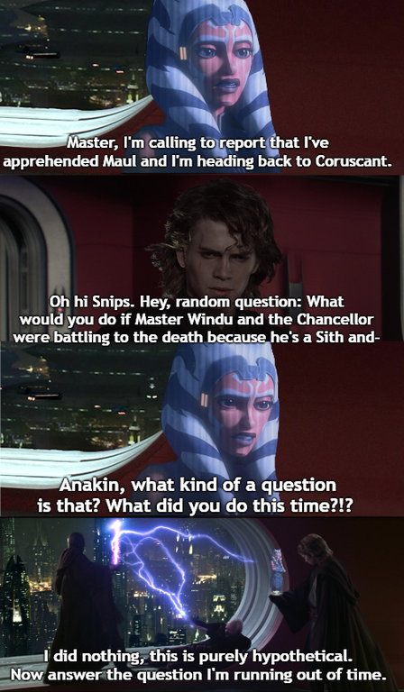 Not A Great Time To Call Ahsoka Prequelmemes Star Wars Ahsoka Star Wars Humor Star Wars Jokes