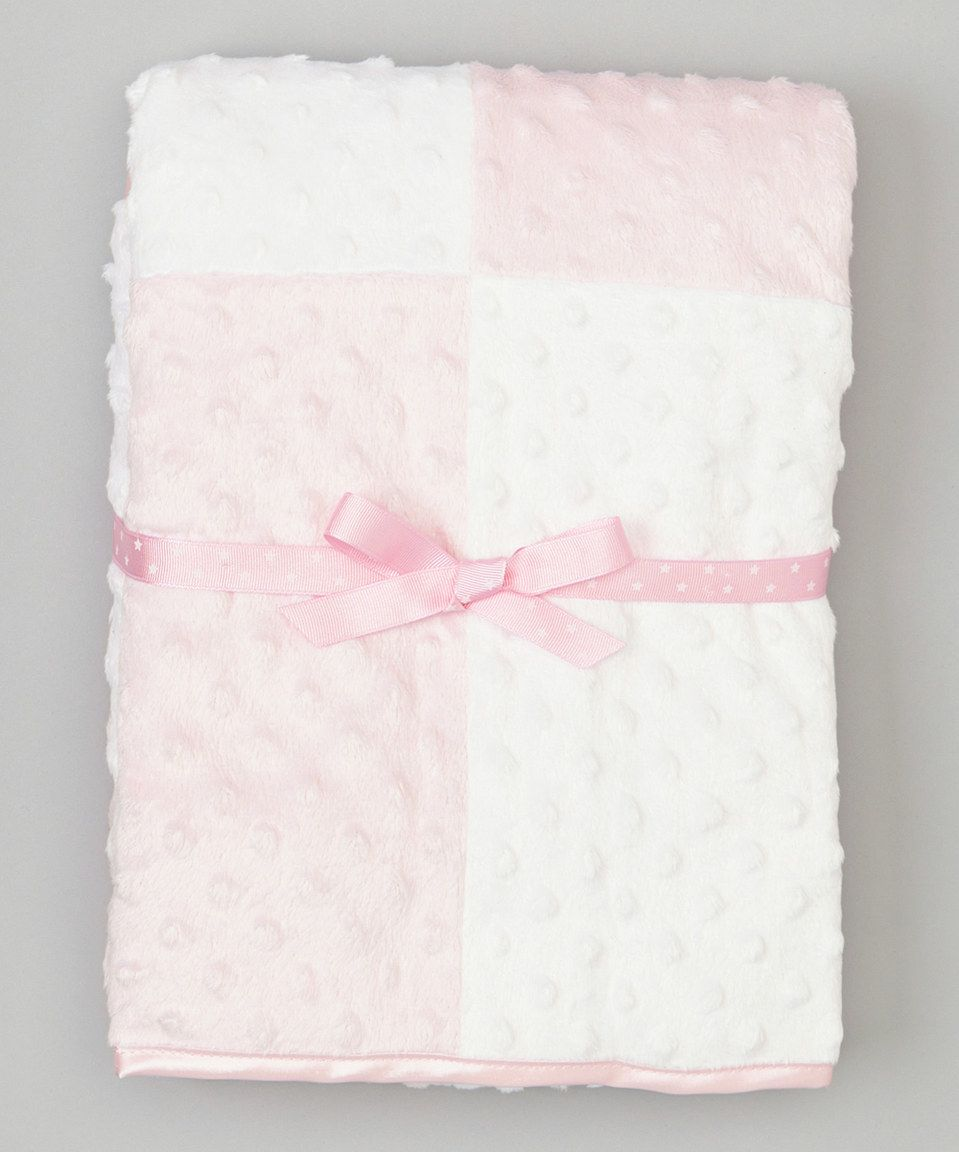 Stroller Size Baseball Print Minky Baby Blanket with Flat Satin Trim