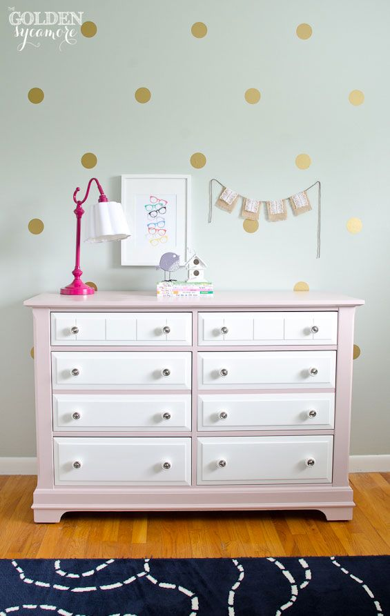 Perfect Big Girl Bedroom : Pink And White Painted Dresser. Paint Colors Listed In  Blog.