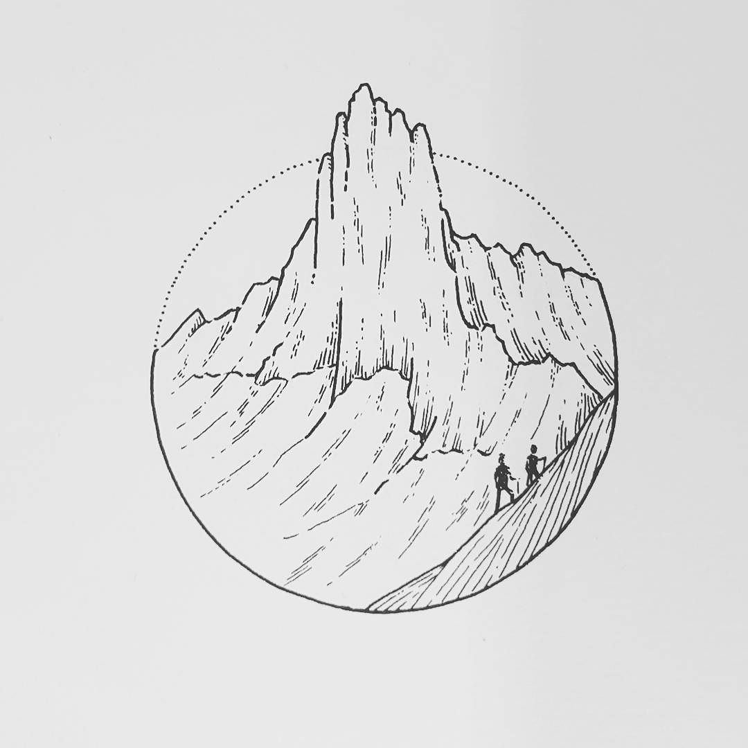 A mountain for this Wednesday. Had to pick up my sister from the airport the family spend the last few weeks in Spain visiting family.  My shop with prints and originals. http://ift.tt/2jfRKg7 . . .  #illustration #illustrations #drawing #draw #sketchbook #artwork #artworks #instaart #instaartist #traditionalart #artoftheday #artsy #handdrawn #illustrate #kunst #artdiscover #artistofinstagram #inkstagram #iblackwork #blackworknow #linedrawing #swissartist #blackworkillustrations #mountains…