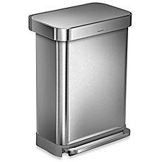 Best Image Of Simplehuman® 55 Liter Rectangular Stainless Steel 400 x 300