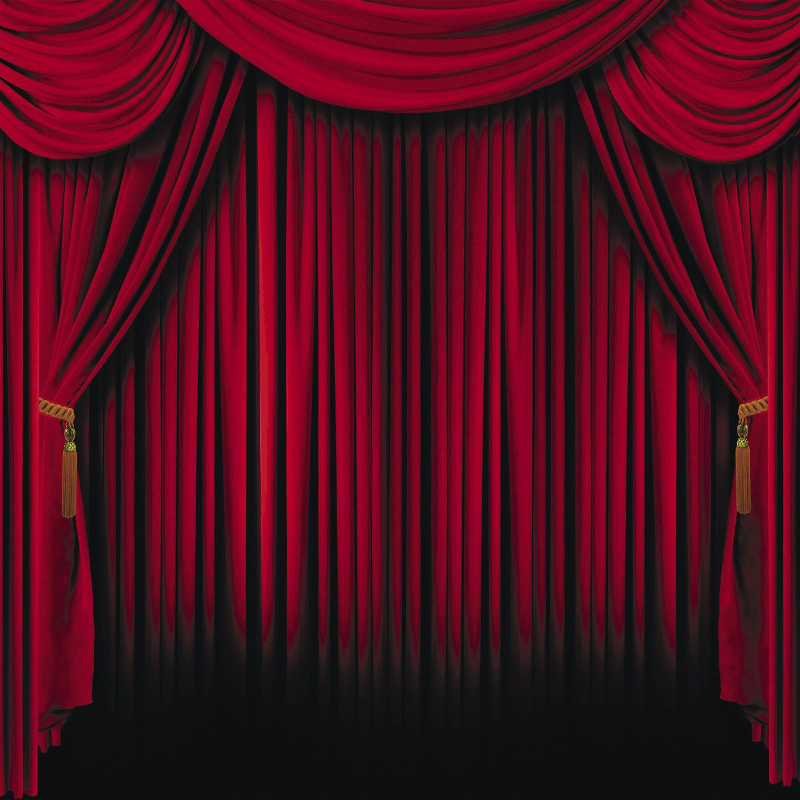 Red Curtain Backdrop Photo Prop Wall Mural Movie Circus Magic Stage ...