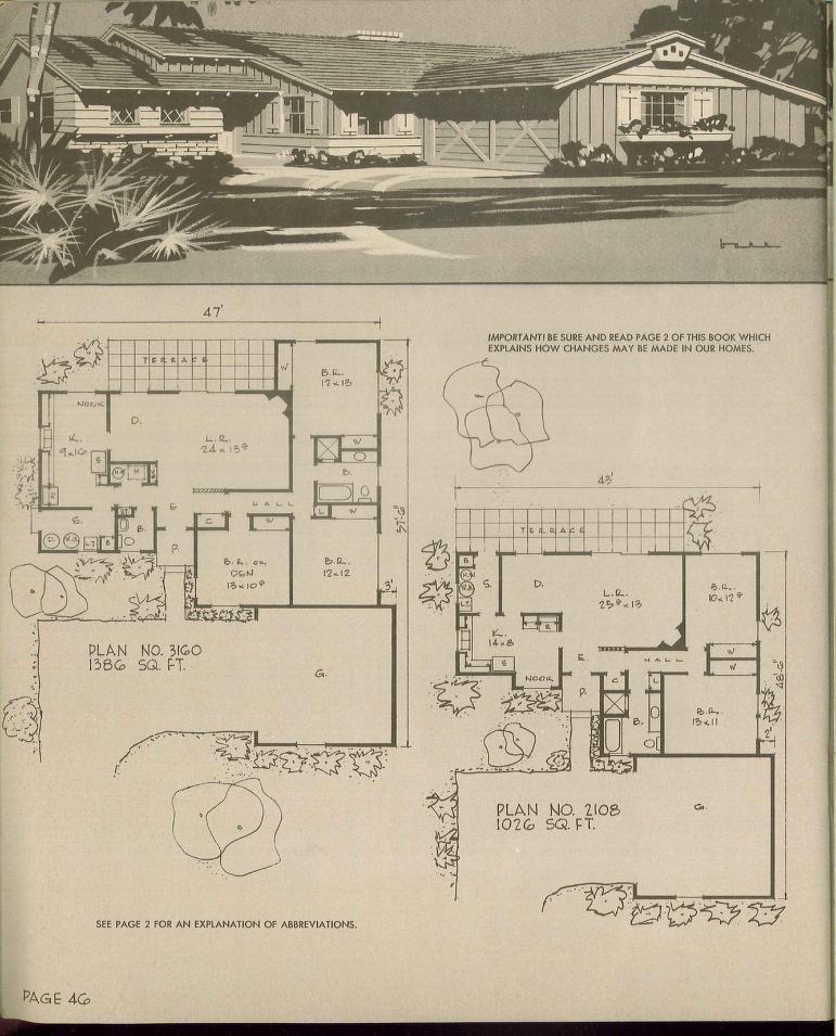 prize homes. hiawatha t.estes 1969 | vintage house plans~1960s