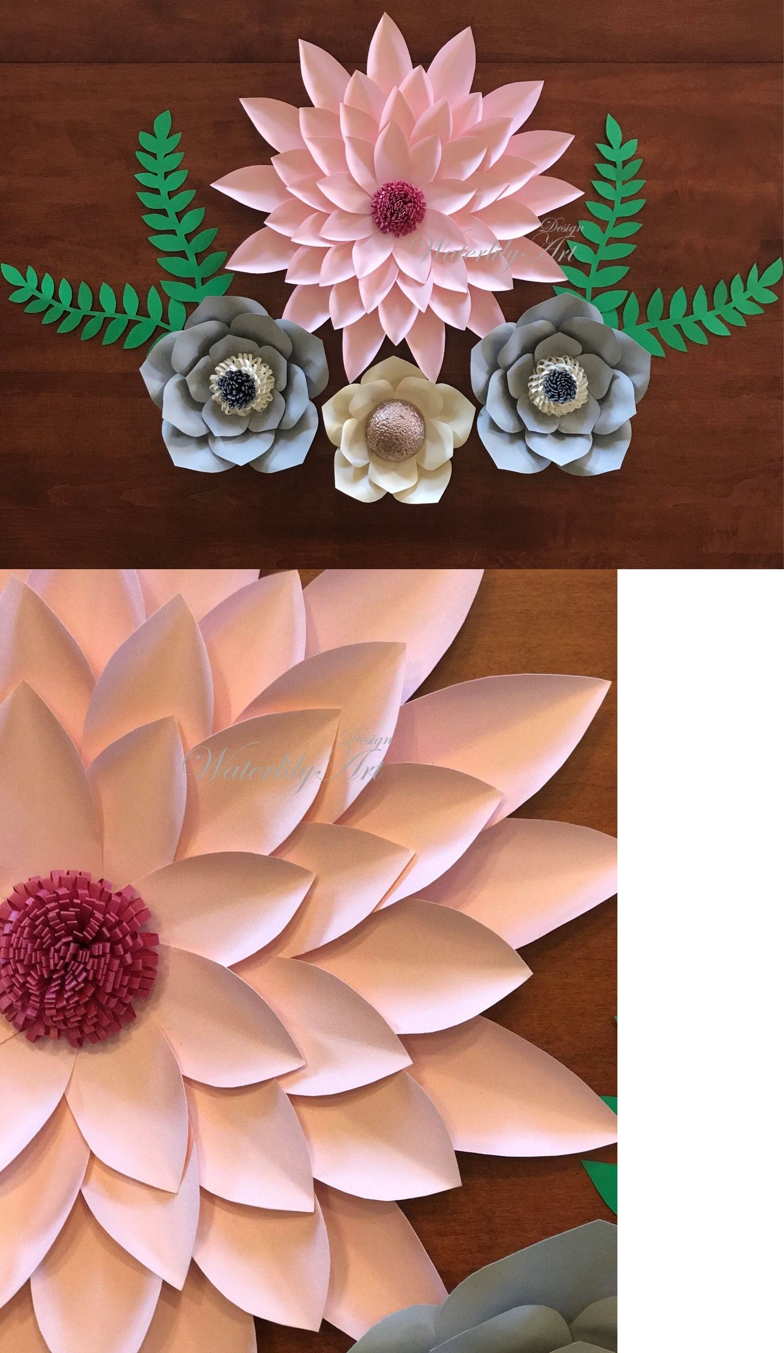 Flower embellishments 160734 pink grey paper flowers buy it now flower embellishments 160734 pink grey paper flowers buy it now only mightylinksfo