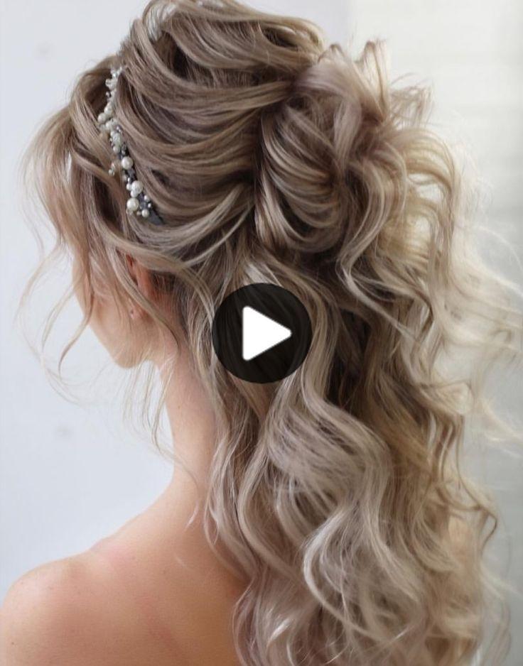 Hochzeit Frisuren Halbhoch Halber Abstieg In 2020 Long Hair Styles Half Up Wedding Hair Wedding Hairstyles Half Up Half Down