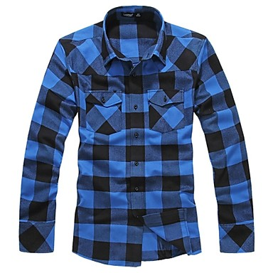 Mens Long Sleeve Stylish Check Shirt (3 Colours). Only at www.pandadeals