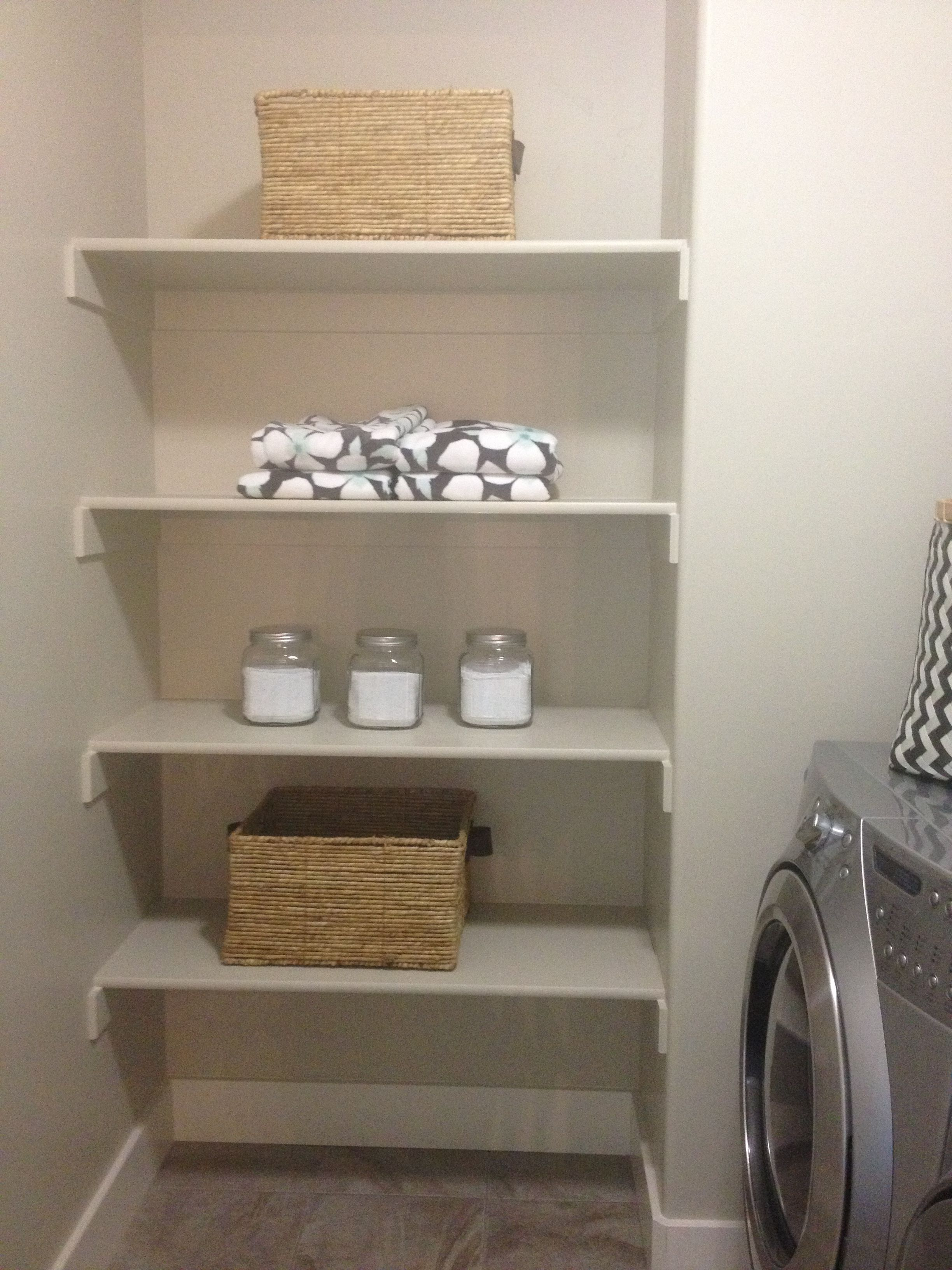 End of hallway storage ideas  Laundry Room Storagethis would look awesome at the end of the