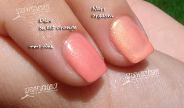 Dior Sweet Orange vs. Nars Orgasm | Mani Pedi | Pinterest | Beauty ...
