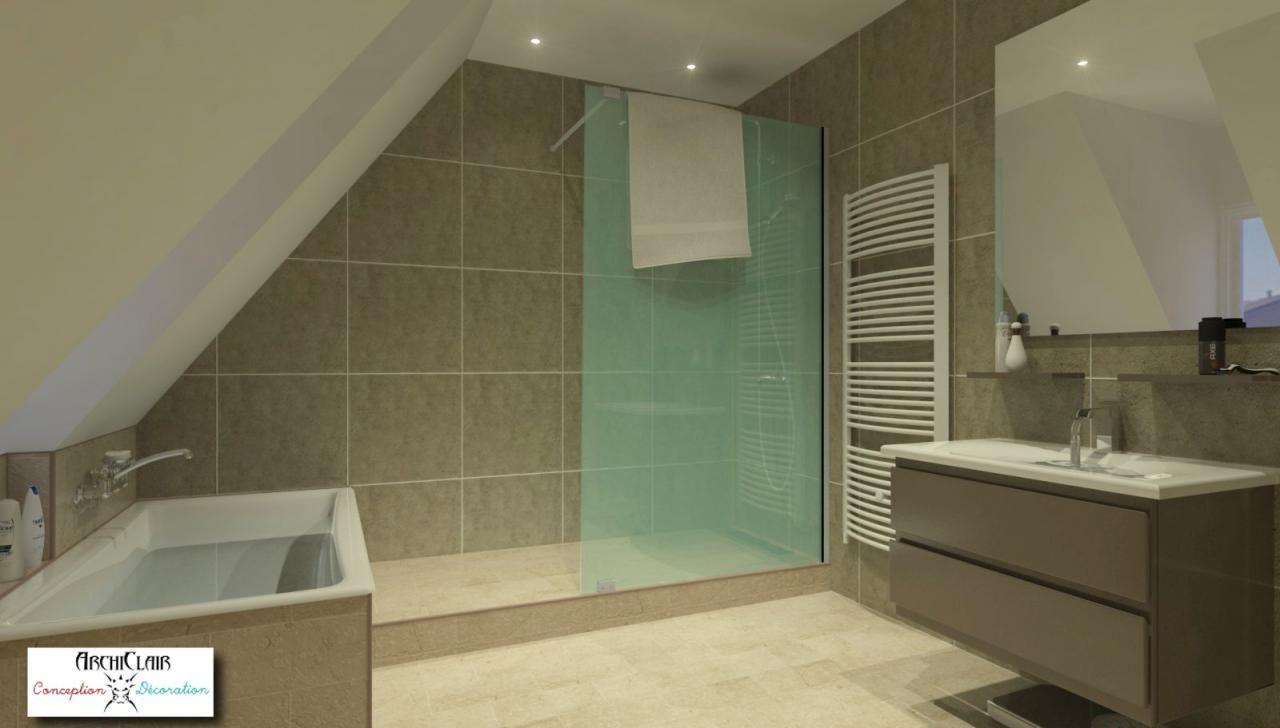 8 astuces pour une salle de bains sous combles - monmaitrecarre