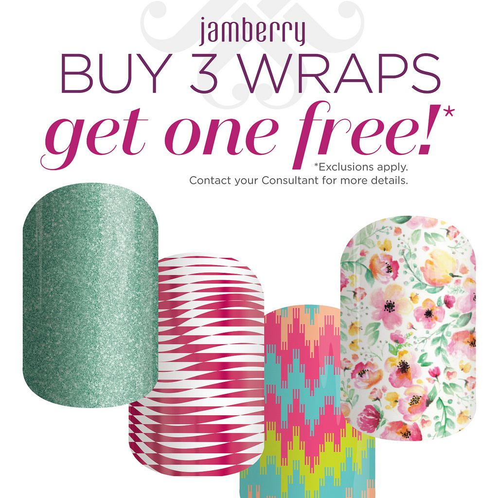 Buy 3 Nail wraps, get 1 free just add the 4 wraps of