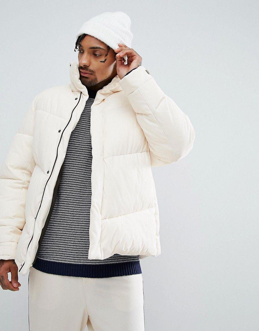 Asos Oversized Puffer Jacket In Ecru Beige Oversized Puffer Jacket Jackets Fashion [ 1110 x 870 Pixel ]