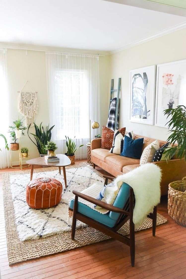 Boho Wohnzimmer: Einrichtungstipps + viele tolle Ideen! in 19