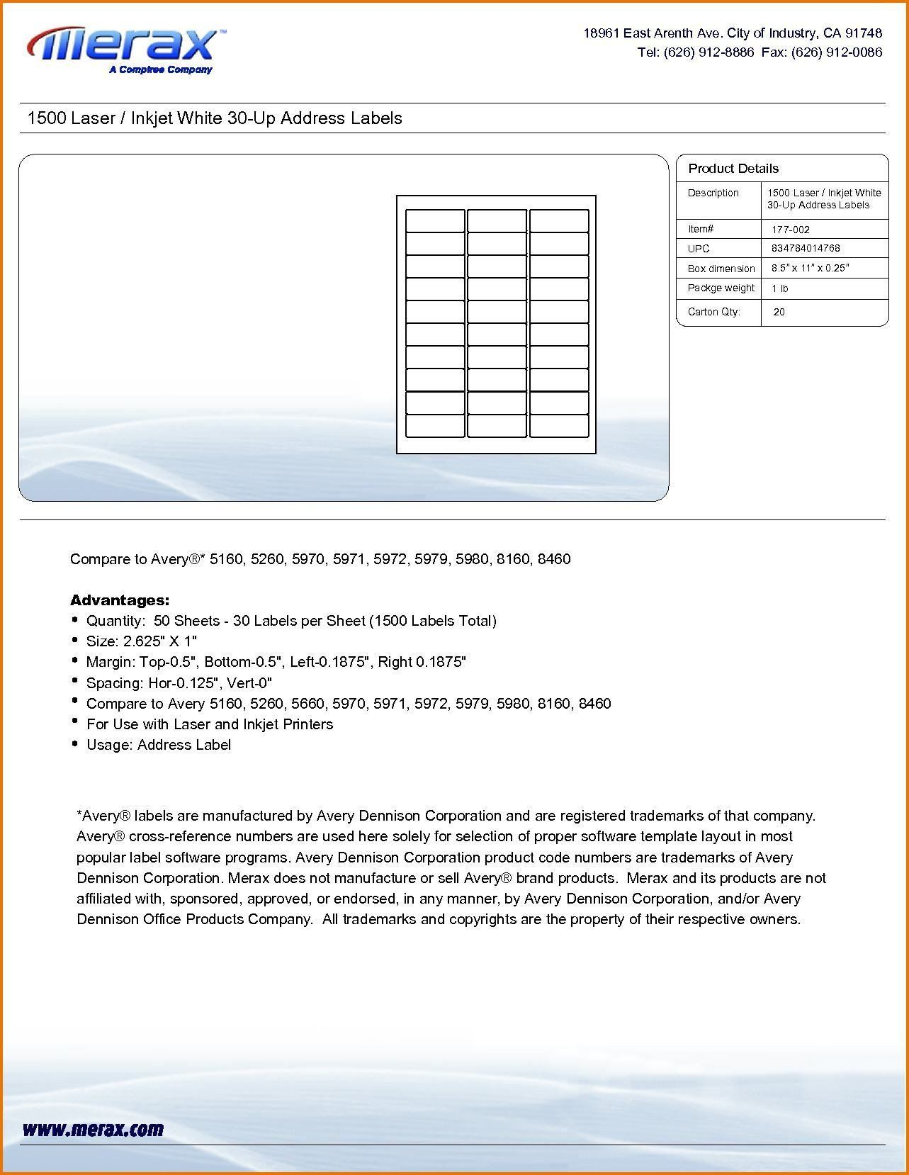 Avery 5260 Label Template Inspirational Avery 5160 Label Template Excel Glendale Munity Label Templates File Folder Labels Address Label Template