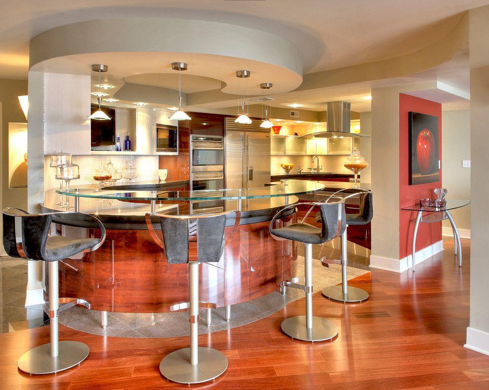 STRIKINGLY COOL BREAKFAST BAR IDEAS Living Room Cozy di 2020