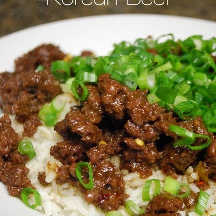 Korean Beef With Brown Rice Recipe Main Dishes With Lean Ground Beef Brown Sugar Soy Sauce Sesame Oil Garlic Fres Recipes Beef Recipes Ground Beef Recipes