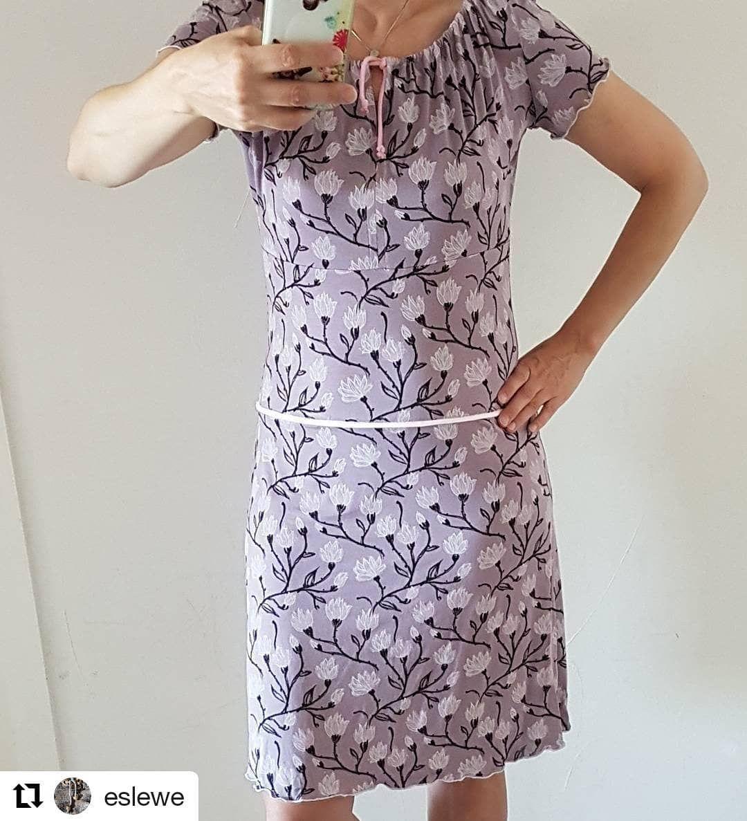 Kleid nach den Bausteinen des rosa p Buches #nähdirdeinkleid. Buch ...