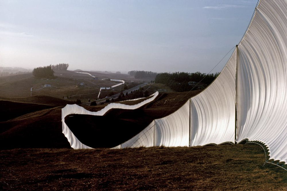 PLANE  (Christo's drapes on the Great Wall of China)