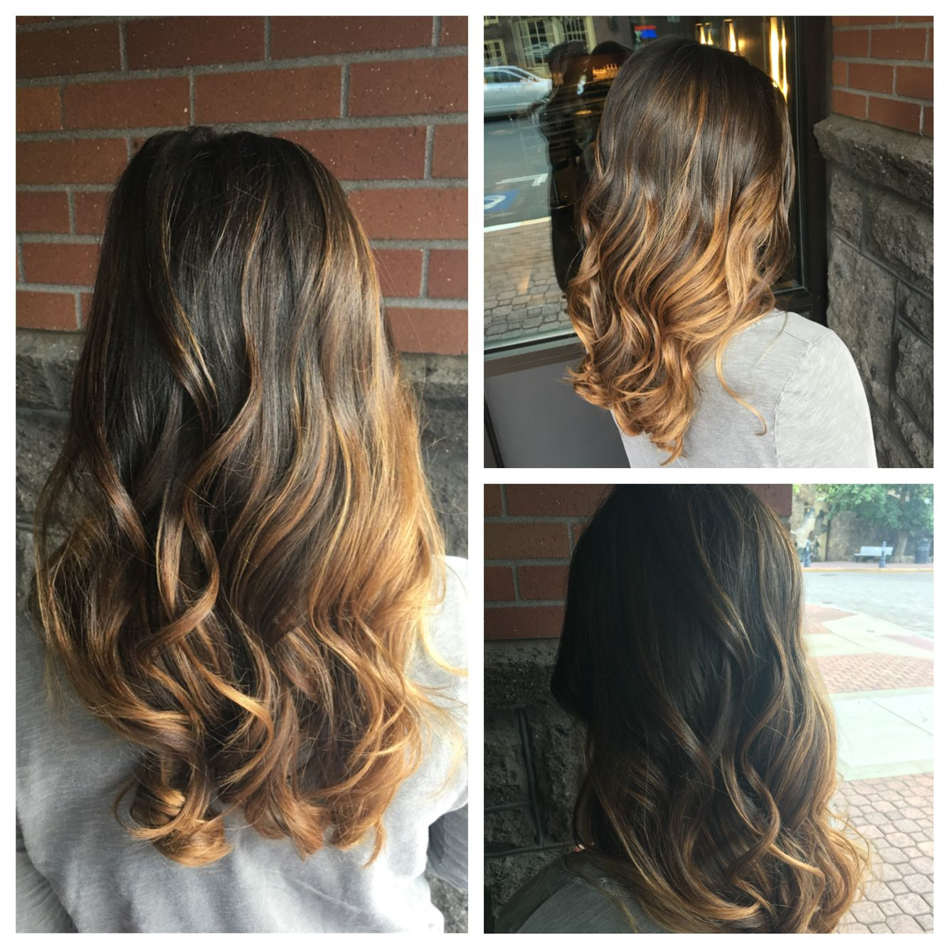 First Time Getting Balayage I M A Dark Brunette And I Love It Subtle Yet Dramatic Done By Amanda At Tange Balayage Short Hair Balayage Balayage Hair Ash