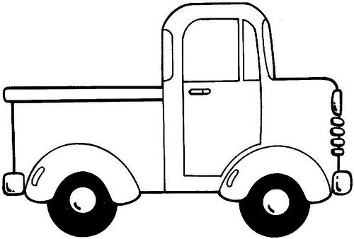 Pick Up Truck Coloring Pages Little Blue Trucks Truck Crafts