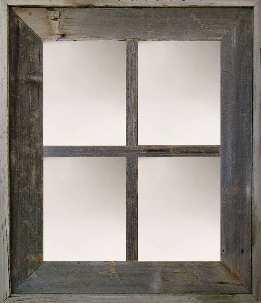 Barn Wood 4 Pane Window Mirror Western Rustic Home Decor 22 X 26 Color Options Barnwood Rustic Window Mirror Rustic Mirrors Rustic Frames
