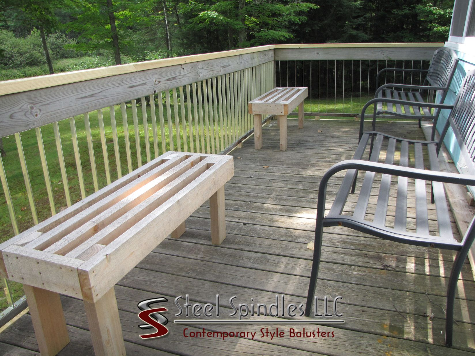Steel Spindles LLC Contemporary Deck Balusters Now Available At Argonne  Lumber In Rhinelander Wi.Deck