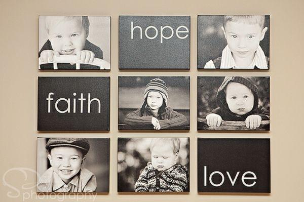familienfotos mit idee dekoration glauben hoffen lieben decorating pinterest familienfotos. Black Bedroom Furniture Sets. Home Design Ideas