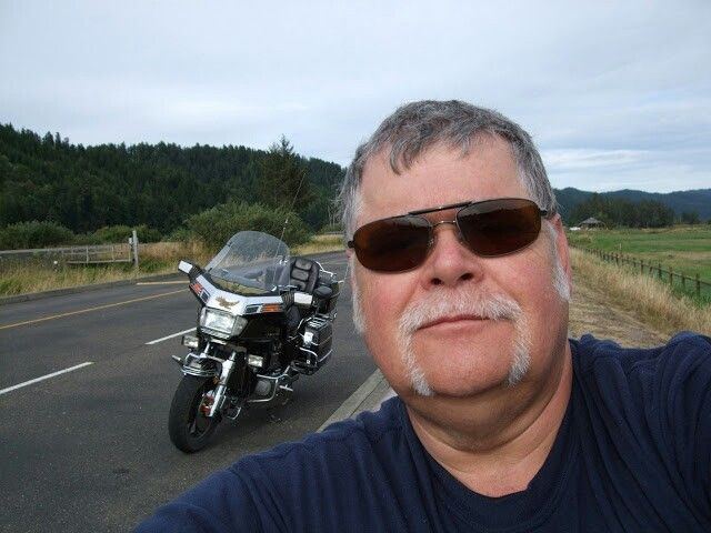 Me and Goldie near Reedsport Or, at the elk viewing area.