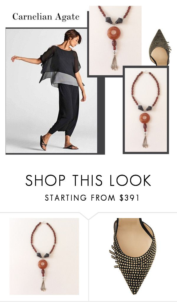 """Carnelian Agate"" by sibaru ❤ liked on Polyvore featuring Jimmy Choo"