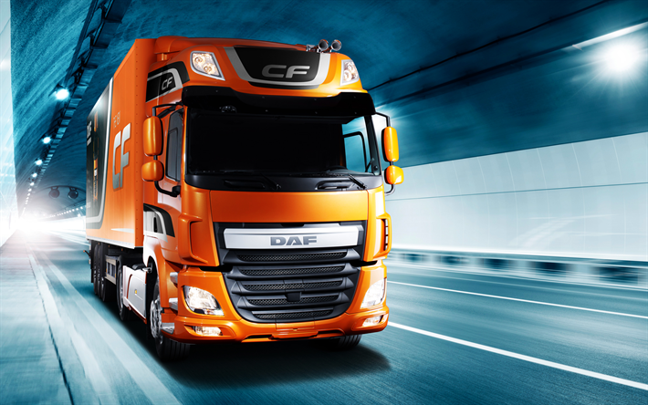 Download wallpapers DAF CF, Euro 6, 2017, Trucking, new