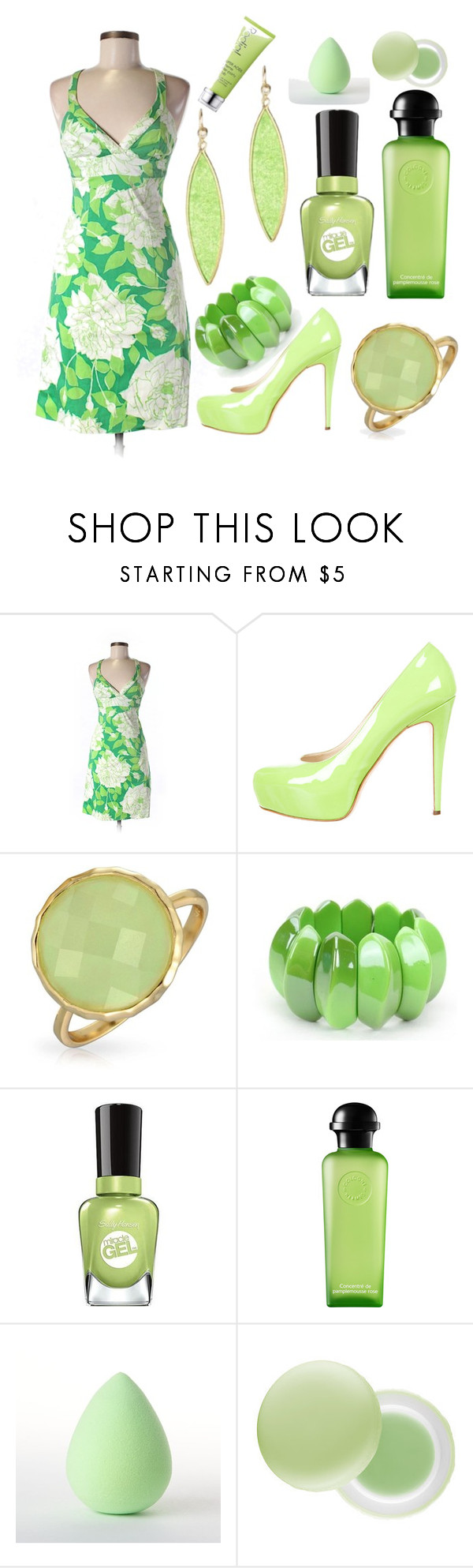 """""""Untitled #833"""" by michelle-burns-steed ❤ liked on Polyvore featuring Trina Turk LA, Brian Atwood, Bling Jewelry, Hermès, Earth Therapeutics and Rodial"""