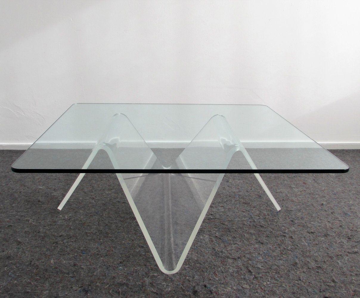 Sculptural Plexiglas Coffee Table 1980 S Table Coffee Sculpture