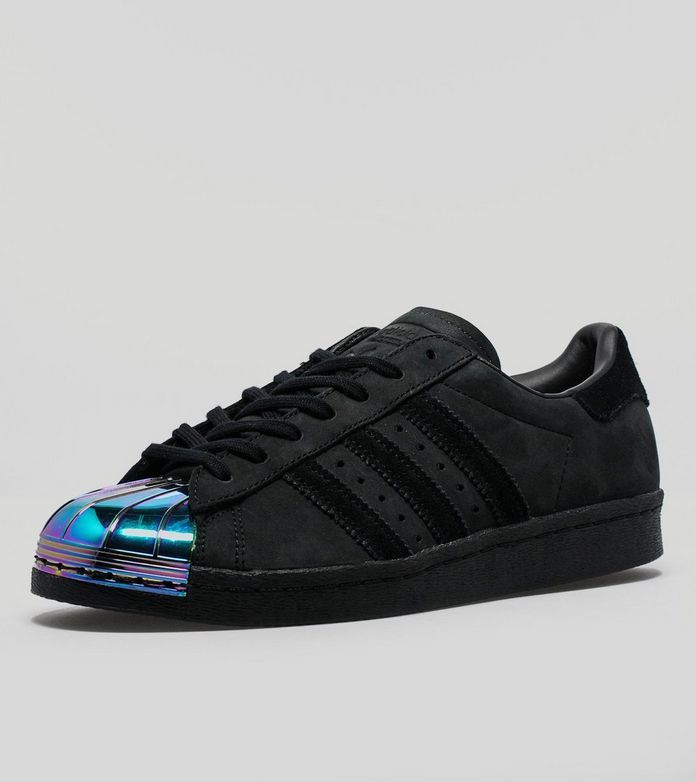 Sweet Adidas Originals Superstar 80s Metal Toe Sports Shoes For Womens Black  Counter Genuine
