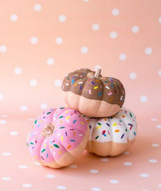 """love these """"Sprinkled Donut"""" pumpkins--another great, no carve option"""